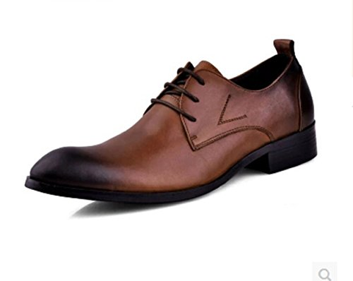 Happyshop(TM) New Genuine Leather Lace Up Oxford Formal Dress Shoes Mens Boots Shoes Brown KtMpaoMa