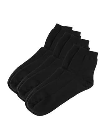 Ladies Pure Color 3-Pair Pack Comfortable Crew Socks