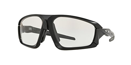 Oakley - Field Jacket - Matte Black - Carbon Frame-Clear-Black Photochromic Lenses by Oakley