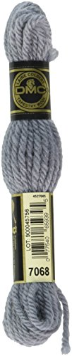 DMC 486-7068 Tapestry and Embroidery Wool, 8.8-Yard, Gray Blue ()
