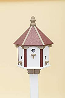 product image for DutchCrafters 6-Hole Classic Birdhouse (Cherry Wood/Weatherwood/White)
