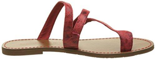 Les P'tites Bombes Texane - Sandalias de dedo Mujer Rouge (Rouge)