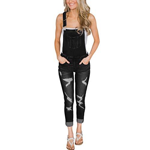 Ajustable Ajustado Pequeños Bolsillo Correa Pantalones Las Apretado Mujeres De Agujeros Irregulares Mujer Jeans Black Con Pies Siameses 8twqE5