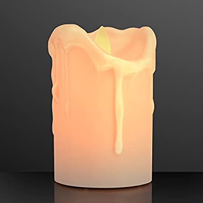 Windproof LED Pillar Candle with Flickering Flameless Light