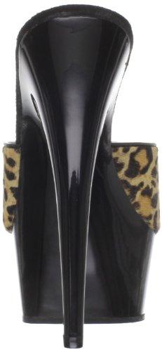 Black 601Lp Platform LPPY Women's Leopard Hair B Sandal Delight Pleaser Patent Pony EXqSwtvX