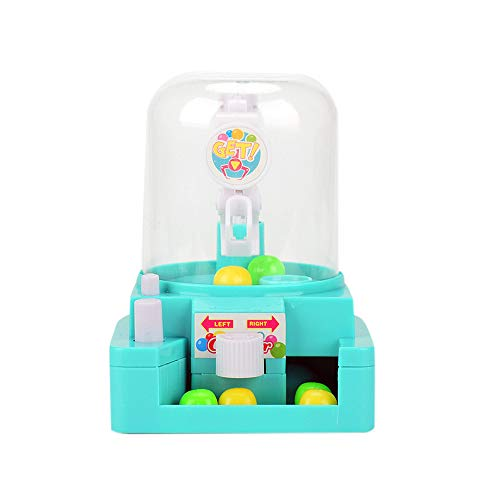 CMrtew 2018 Fun Toys for Children Mini Doll Machine Grab Ball Kids Toys Candy Catcher Gum Crane Kids Party Toys Gift Role Play Exquisite (Green, 12x9x12cm)