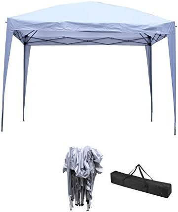OVASTLKUY 10 x 10 ft Outdoor Pop-Up Canopy Tent Gazebo Heavy Duty Party Wedding Event Tent White