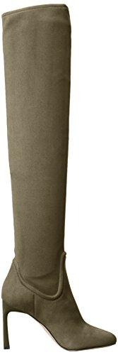 Nine West Women's Uptowngrl Fabric Combat Boot, Dark Green, 8 M US