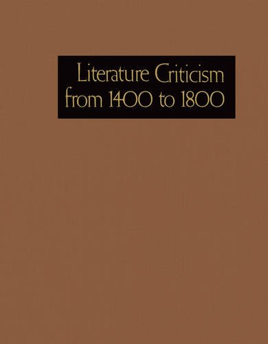 Read Online Literature Criticism from 1400 to 1800 pdf