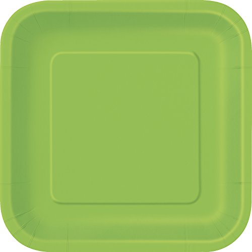 (Square Lime Green Paper Cake Plates,)
