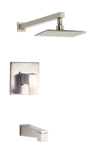 (Danze D502062BNT Mid-Town Single Handle Tub and Shower Trim Kit with Efficient Flow Showerhead, Brushed Nickel)