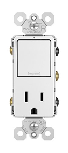 - Legrand - Pass & Seymour radiant RCD38TRWCC6 Single Pole/3-Way Switch & 15 Amp Outlet, White