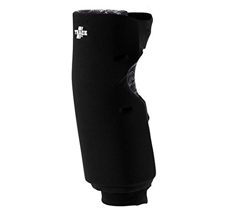 Adams USA Trace Long Style Softball Knee Guard (Medium, Black) (Adams Pads Knee)
