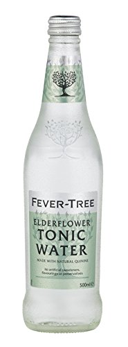 Fever-Tree Elderflower Tonic Water, 16.9 Fl Oz Glass Bottle, Pack of 8