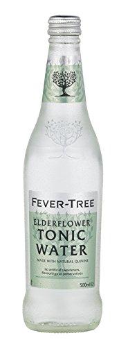 Fever-Tree Elderflower Tonic Water, 16.9 Fl Oz Glass Bottle, Pack of 8 ()