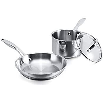 Amazon Com Stovetop Pro Stainless Steel 3 Piece Cookware