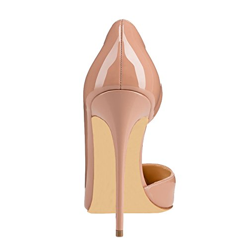 Wedding for Heels Party VOCOSI Bridal Nude Closed Women Classic patent Pointed High Women's Toe Pumps qEnx1gvP