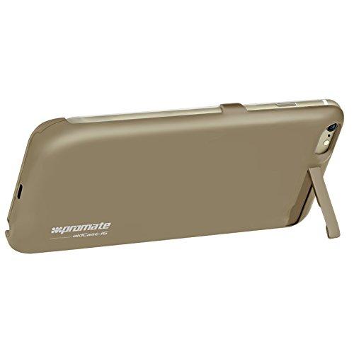 Promate aidcase-i6p 2800mAh Batterie au lithium polymère Super Slim Coque pour Apple iPhone 6Plus/6S Plus–Or