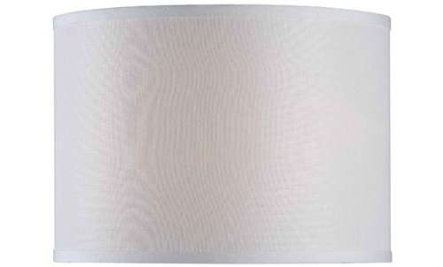 Drum Lamp Shade, 14'' LINEN, IVORY