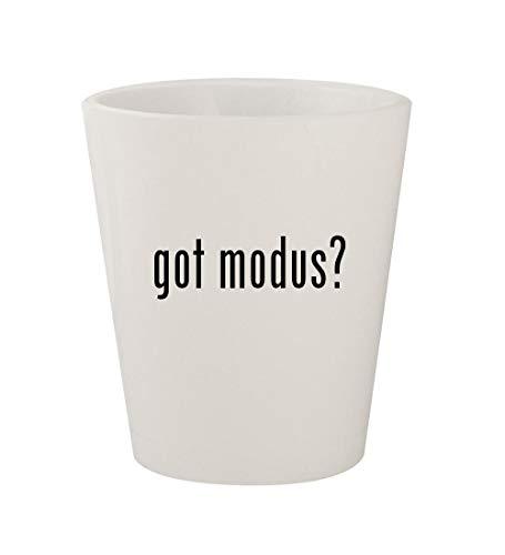 got modus? - Ceramic White 1.5oz Shot -