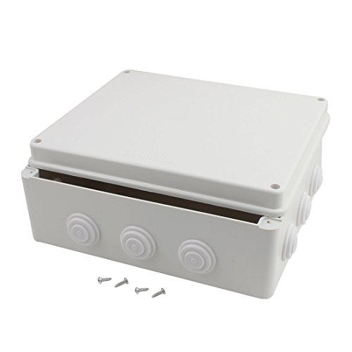 uxcell 300mmx250mmx120mm Dustproof IP65 Junction Box Universal Electric Project Enclosure