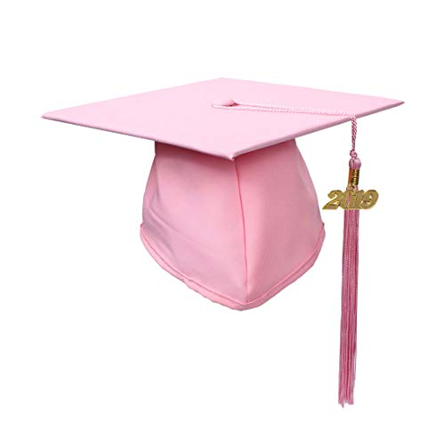 GraduationService Adults Matte Graduation Cap with 2019 Tassel Year Charm,12 Colors Option
