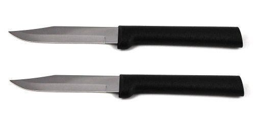 Rada Cutlery Regular Paring Knife, Black Handle, Pack of 2 by Rada MFG