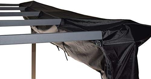 Jet-line Lona protectora para cenador Luxor, 4 x 3 m, color negro, lona de invierno, protección UV y protección contra la intemperie