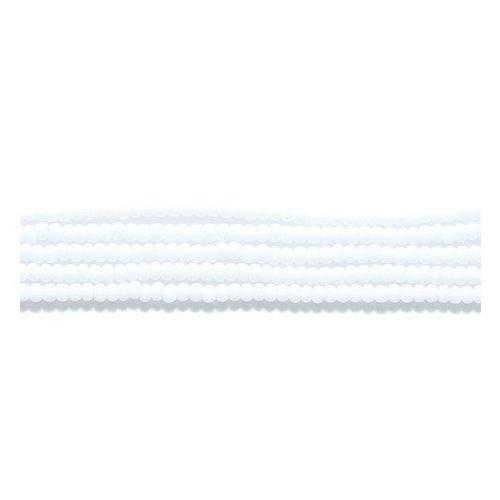 Preciosa Ornela Czech Matte Opaque Seed Bead, White, Size 10/0