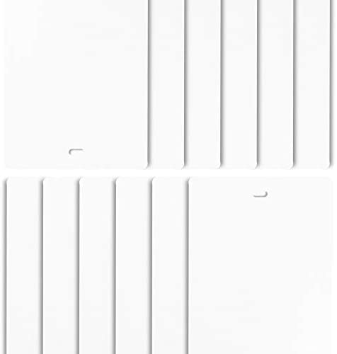 DALIX PVC Vertical Blind Replacement Slats Curved Smooth White 42.5 x 3.5 20-Pack