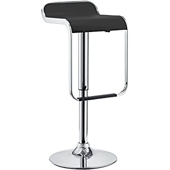 Modway LEM Piston Style Vinyl Bar Stool in Black