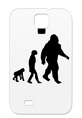 Evolution Of Bigfoot Sasquatch Miscellaneous Funny Silhouette Funny Black Humor Bigfoot Evolution For Sumsang Galaxy S4 Case