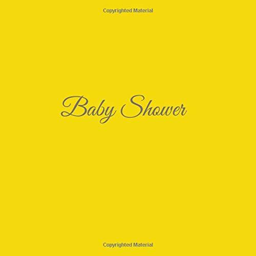 Libro De Visitas Baby Shower ideas regalos decoracion accesorios fiesta firmas invitados baby shower bautizo bebé niño niña 21 x 21 cm Cubierta Amarillo ...