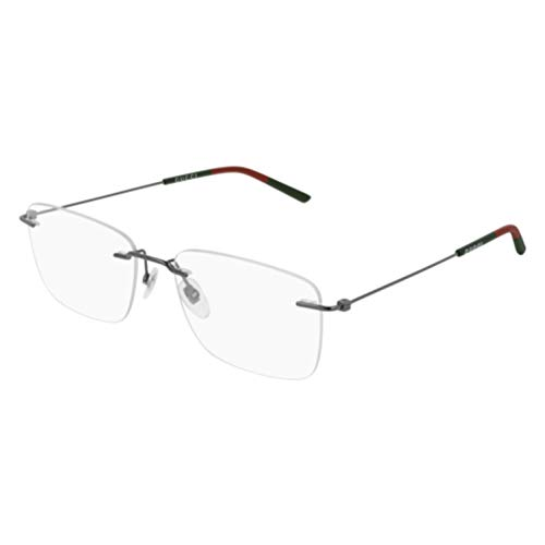 033902e241a 2 · Gucci GG 0399O 001 Ruthenium Metal Rimless Eyeglasses 56mm