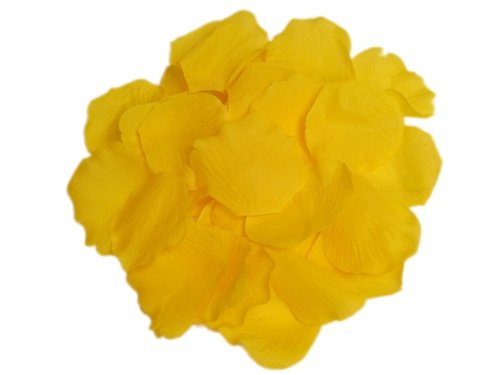 BalsaCircle 2000 Yellow Silk Artificial Rose Petals Wedding Ceremony Flower Scatter Tables Decorations Bulk Supplies Wholesale - Two Yellow Roses
