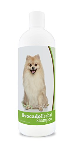 Healthy Breeds Herbal Avocado Dog Shampoo for Dry Itchy Skin for Pomeranian  - OVER 200 BREEDS - For Dogs with Allergies or Sensitive Skin - 16 oz
