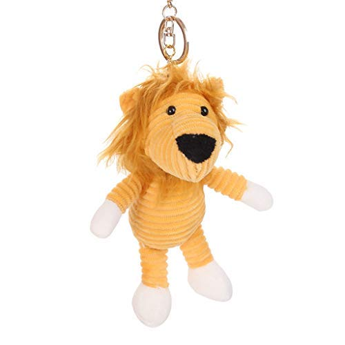 Maikouhai 2 in 1 Multifunctional Backpack Keychain Accessories, Soft Cute Animals Pattern Stuffed Plush Toys Kids Dolls Gifts (A)