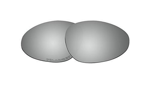 Sunglass Polarized Lenses Replacement for Oakley Warden Sunglasses Black Iridium Mirror - Warden Sunglasses