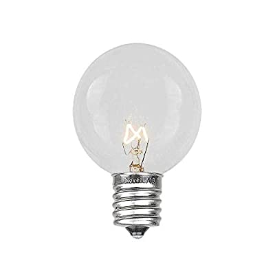 G30 Patio String Lights with 25 Globe Bulbs - Garden Hanging String Lights - Vintage Backyard Patio Lights - Outdoor String Lights - Market Cafe Bistro String Lights – Black Wire -25 Feet