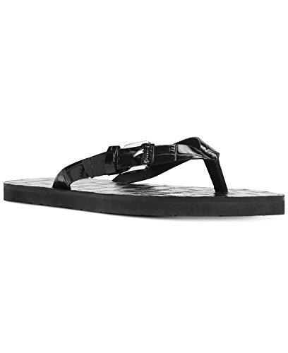 (Michael Michael Kors Womens Jocelyn Open Toe Casual Slide, Black, Size 9.0)