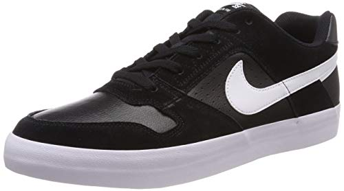 Nike Men's Sb Delta Force Vulc Black/White - Anthracite Ankle-High Leather Skateboarding Shoe 10.5M