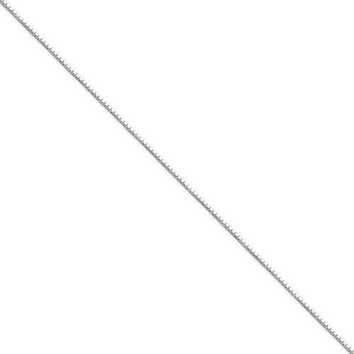 Chains .925 Sterling Silver 0.90MM Diamond-Cut Mirror Box Link Necklace, 20