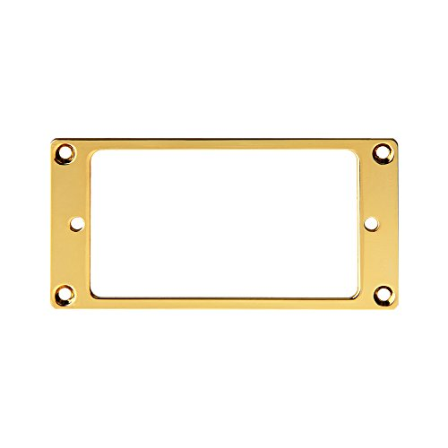 Kmise Z4540 4 Piece Flat Metal Humbucker Pickup Mounting Ring - Black/Gold (Blackjack New Schecter)