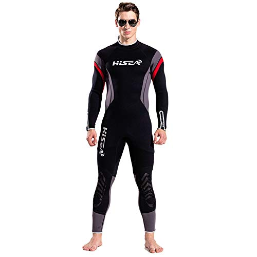 Men's 2.5mm Premium Neoprene Thermal Wetsuits Back Zip Full Body Cover Diving Suits UV Protection Rashguard Surfing Suits Spring Fever for Kayaking Canoeing Snorkeling