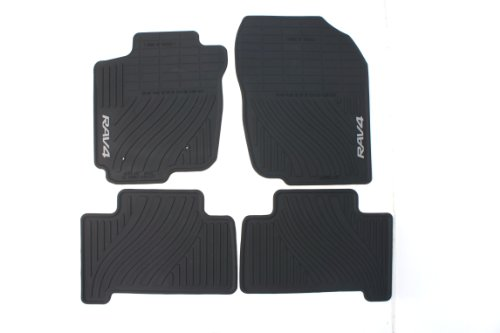 Genuine Toyota Accessories PT908-42110-20 Front and Rear All-Weather Floor Mat (Black), Set of 4