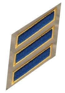 Uniform Service Hash Marks - CHP Royal-Gold/Tan Twill, 2