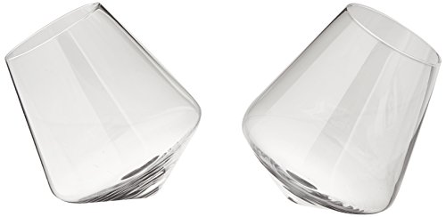 Viski Raye Crystal Rolling Whiskey Drinking Glasses (Set of ()