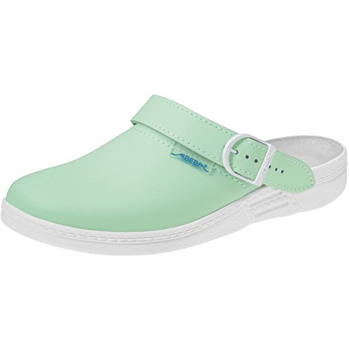 "Abeba 7091""El Original"" occupational-clog Shoe minz-green/white"