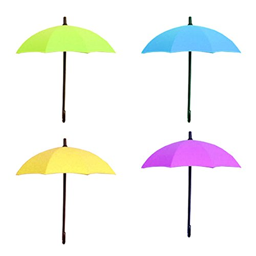 Creative 3PCS/set Umbrella Shape Clothes Key Hat Holder Wall Hook Colorful Home Decoration Shelves Hanger Rack
