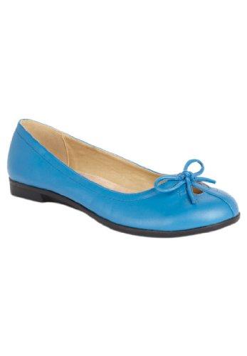 Jessica London Kass Ballet Flat From Cv Super Harbor Blue,9 Ww